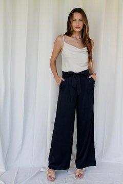 FRNCH Phedra Navy Pants - Product List Image