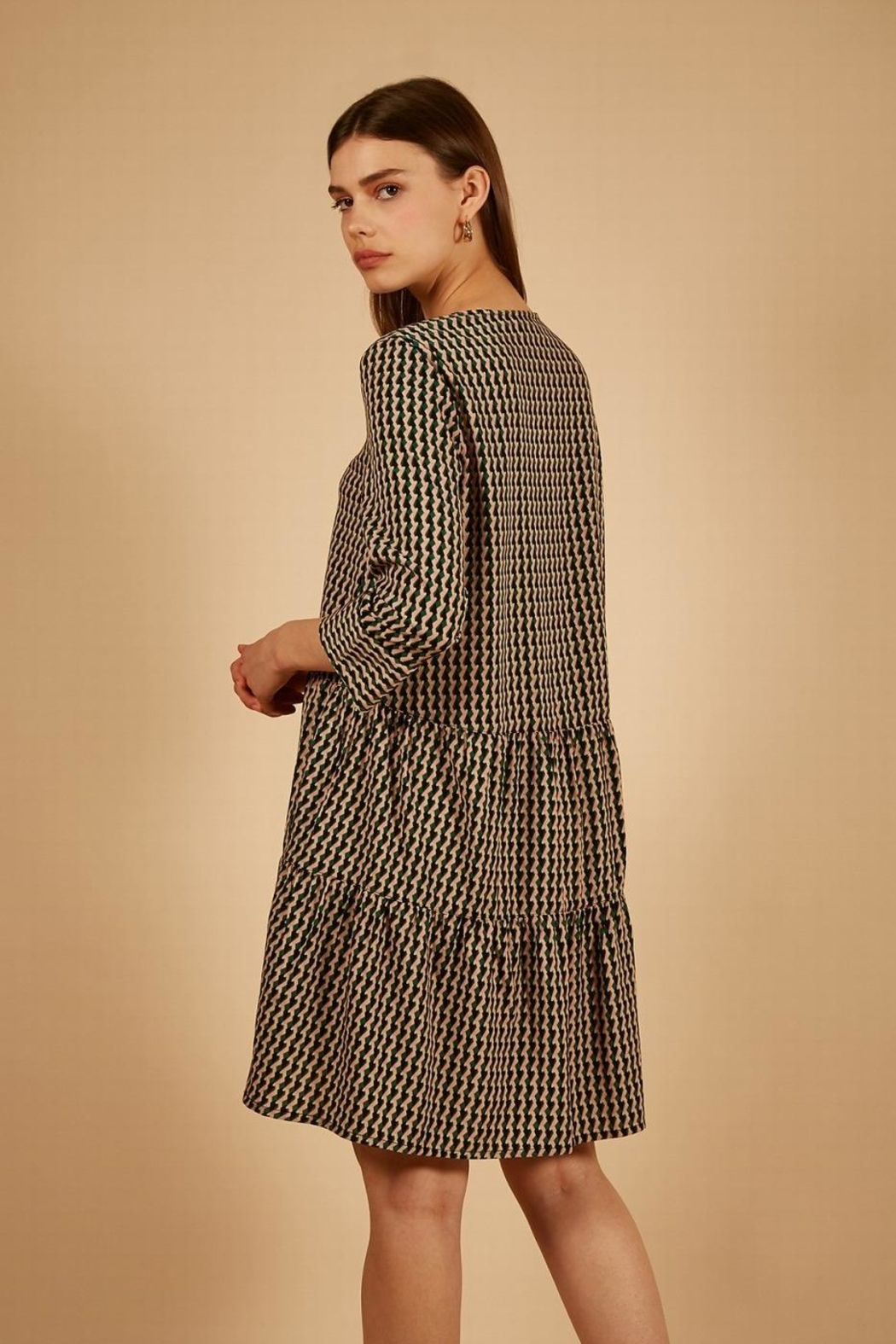 FRNCH Print Dress - Side Cropped Image