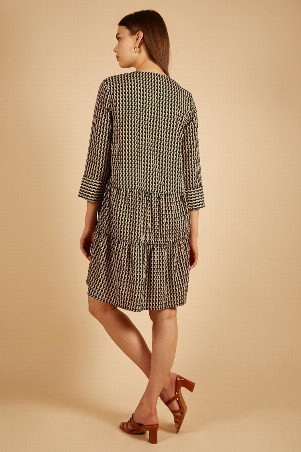 FRNCH Print Dress - Front Full Image