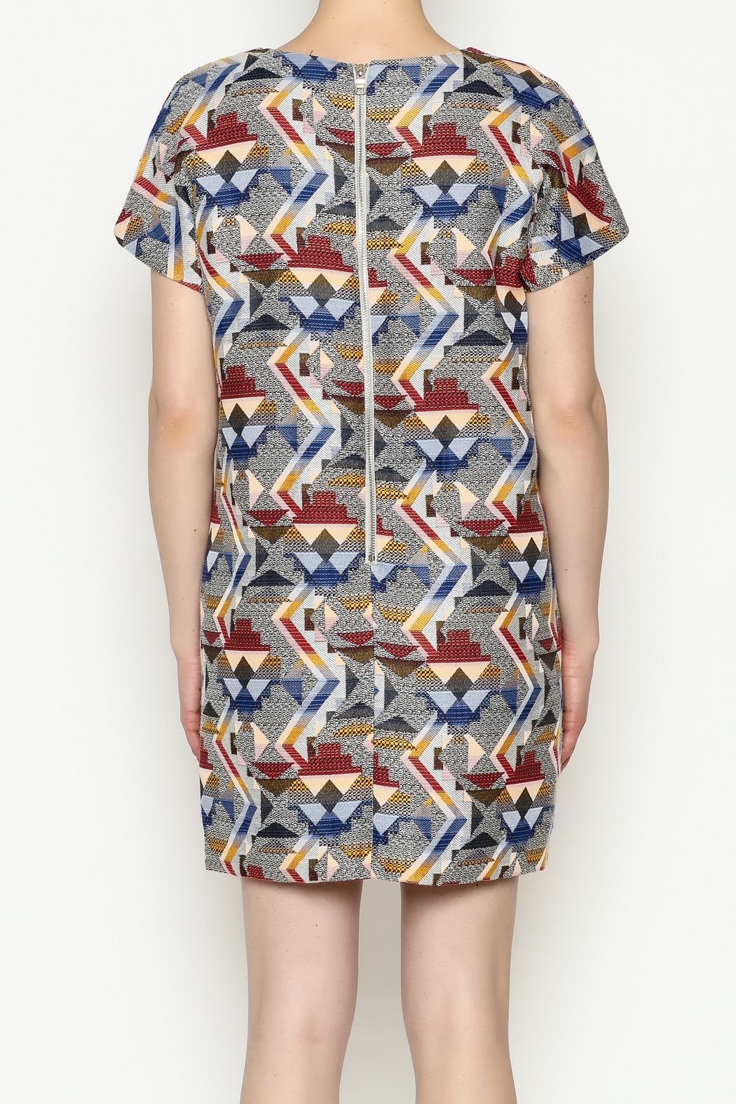 FRNCH Printed Shift Dress - Back Cropped Image