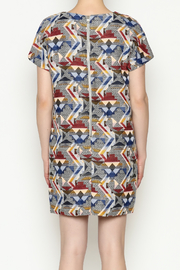 FRNCH Printed Shift Dress - Back cropped