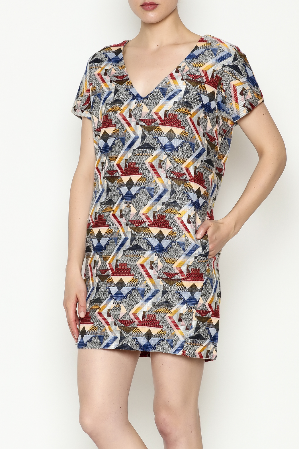 FRNCH Printed Shift Dress - Front Cropped Image