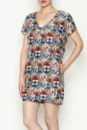 FRNCH Printed Shift Dress - Product Mini Image