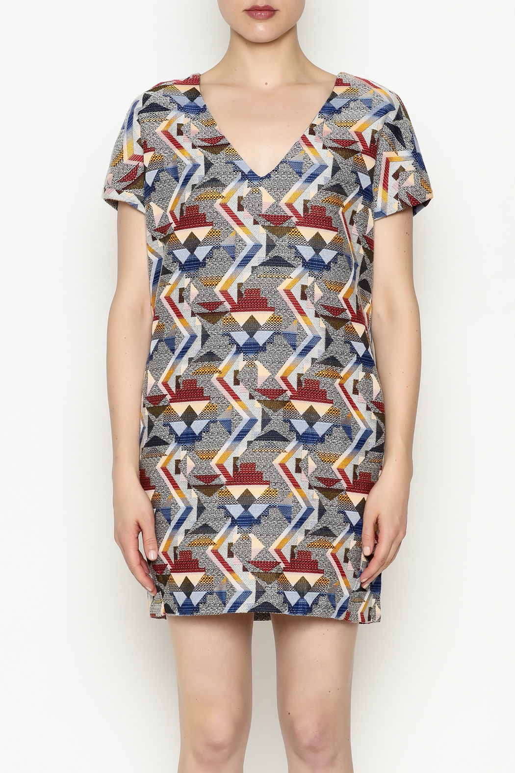 FRNCH Printed Shift Dress - Front Full Image