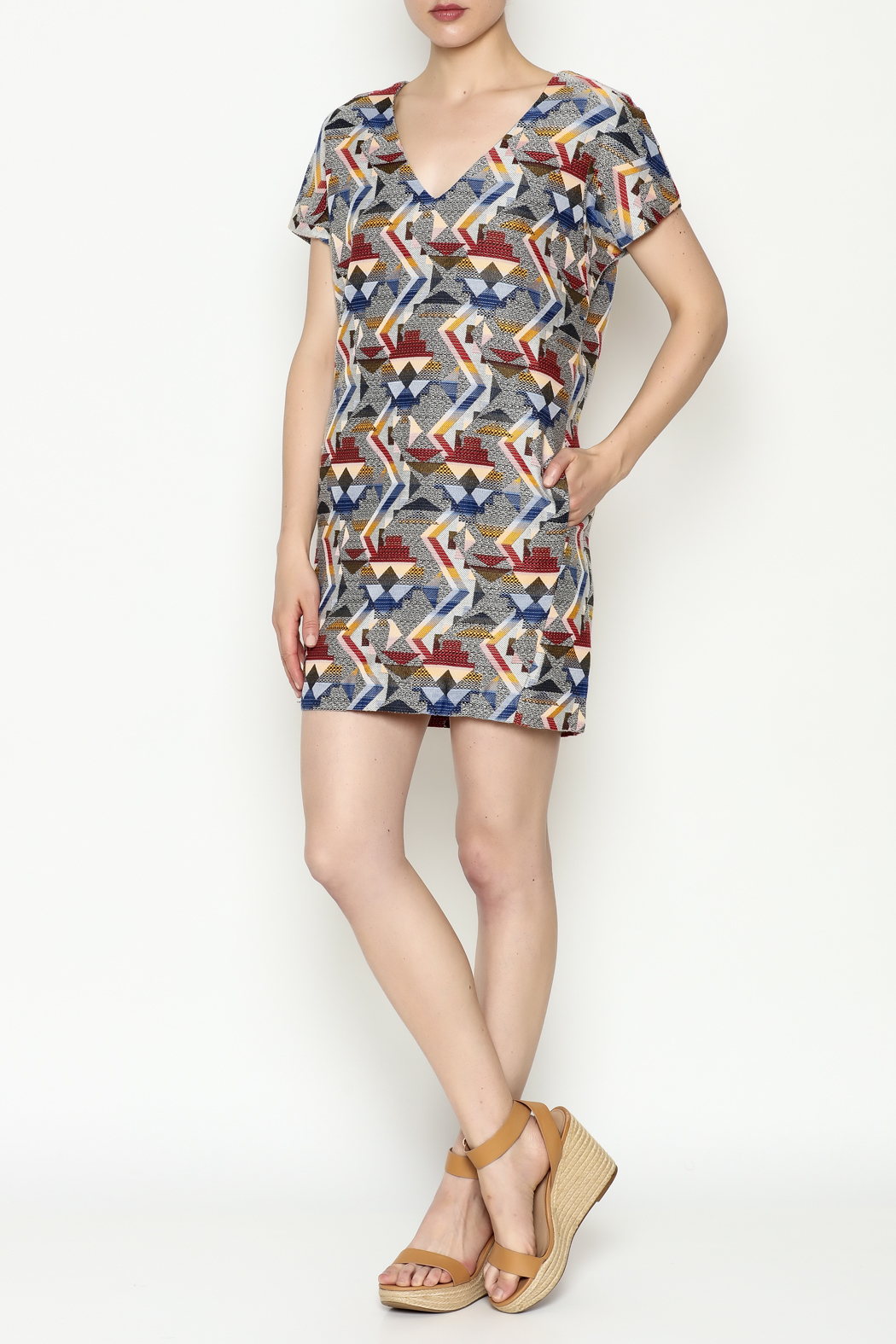 FRNCH Printed Shift Dress - Side Cropped Image