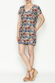 FRNCH Printed Shift Dress - Side cropped