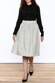FRNCH Silver Midi Skirt - Front full body