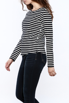 FRNCH Striped Long Sleeve Sweater - Product List Image