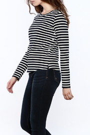 FRNCH Striped Long Sleeve Sweater - Product Mini Image
