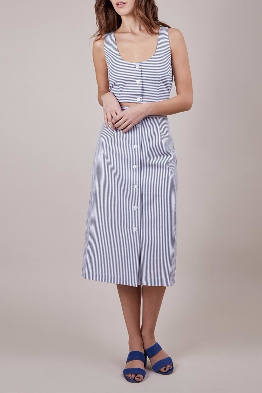 FRNCH Trapeze Skirt - Side Cropped Image