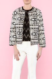 FRNCH Tribal Print Short Jacket - Product Mini Image