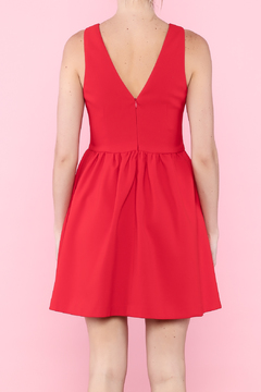 Shoptiques Product: V Neck Fit And Flare Dress