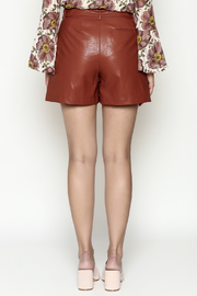 FRNCH Vegan Leather Shorts - Back cropped