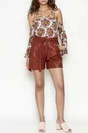 FRNCH Vegan Leather Shorts - Side cropped
