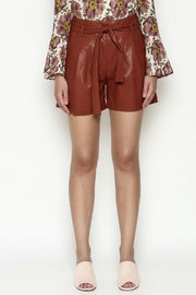 FRNCH Vegan Leather Shorts - Front full body