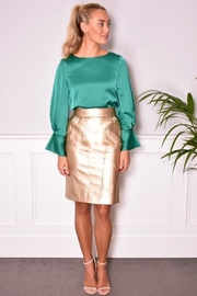 FRNCH Vegan Leather Skirt - Side cropped