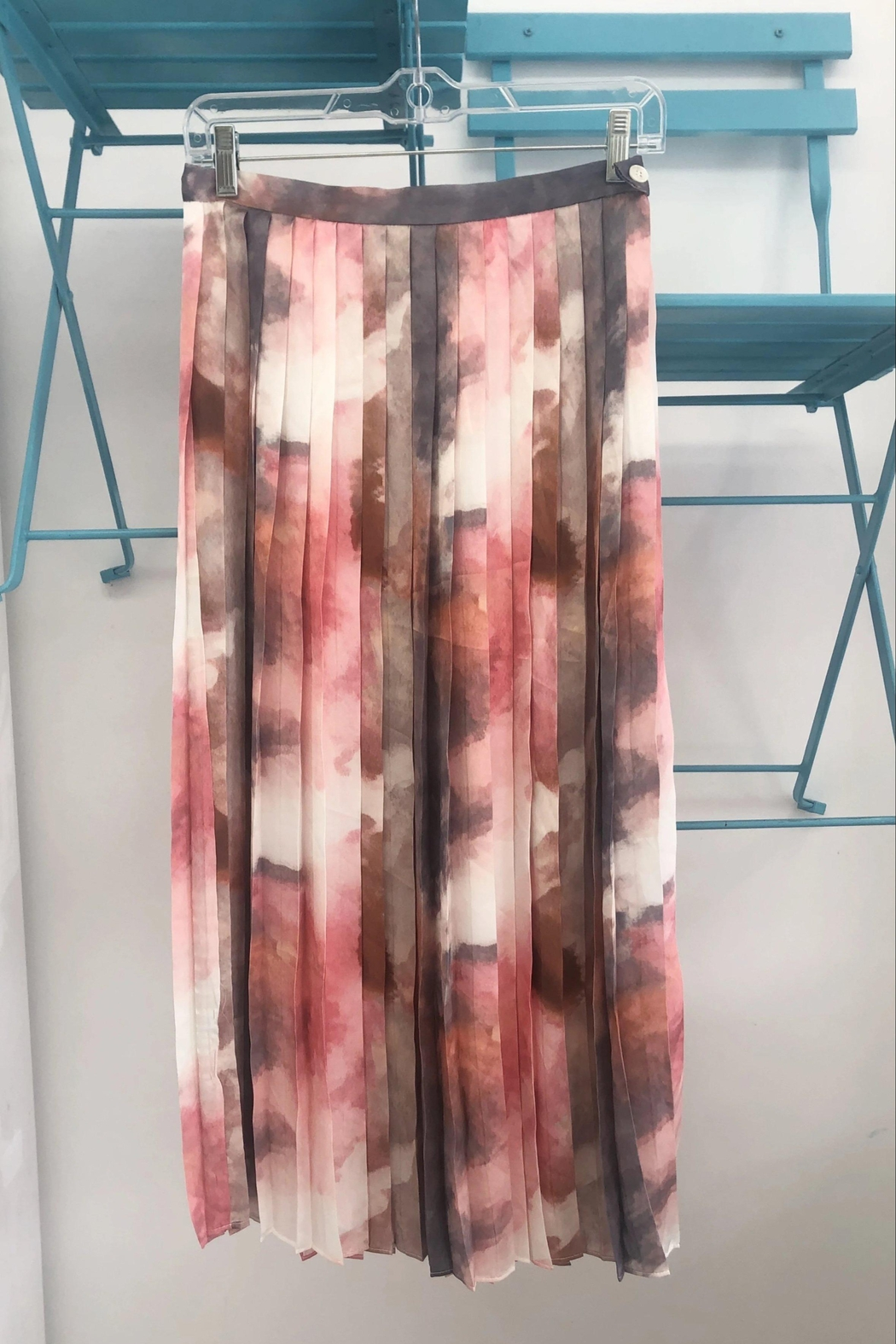 FRNCH Watercolor Pleat Skirt - Main Image