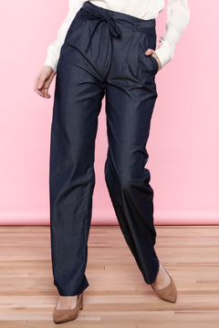 Shoptiques Product: Wide Leg Chambray Pant