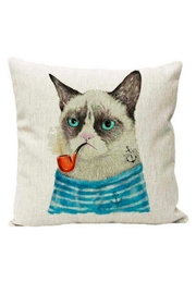 Frock Boutique Grumpy Cat Pillow - Front cropped