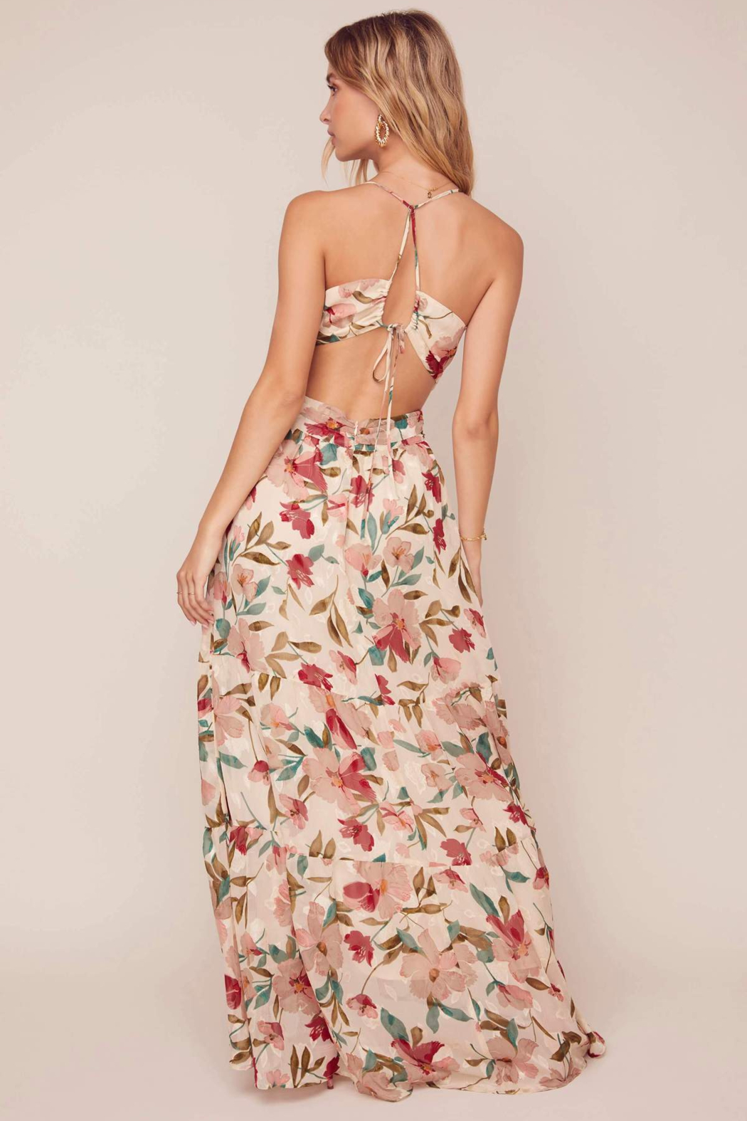 ASTR the Label Frolic Floral Maxi Dress - Front Full Image