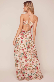ASTR the Label Frolic Floral Maxi Dress - Front full body