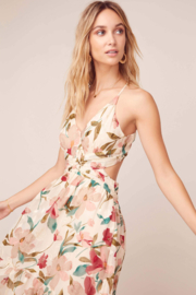 ASTR the Label Frolic Floral Maxi Dress - Back cropped