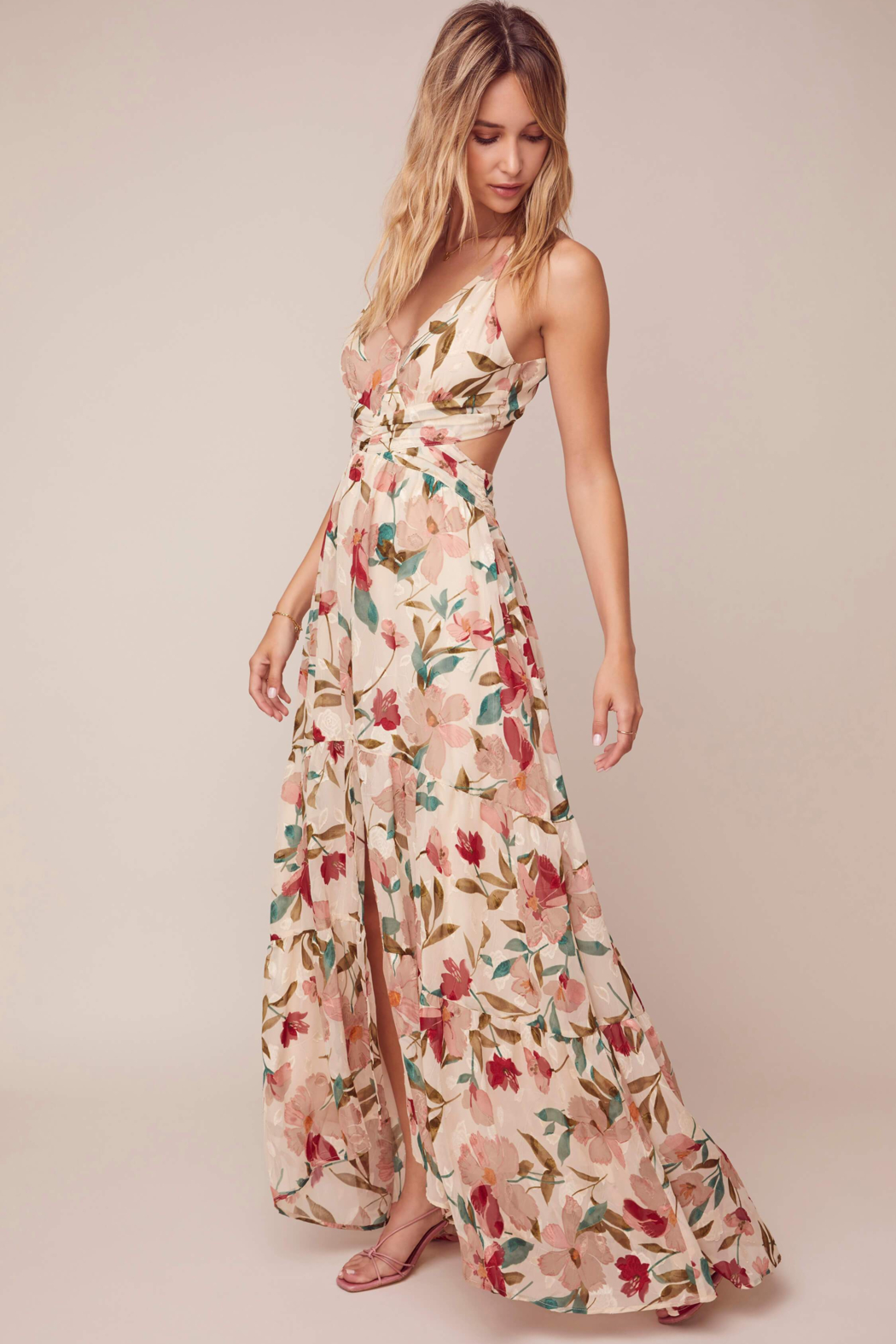 ASTR the Label Frolic Floral Maxi Dress - Side Cropped Image