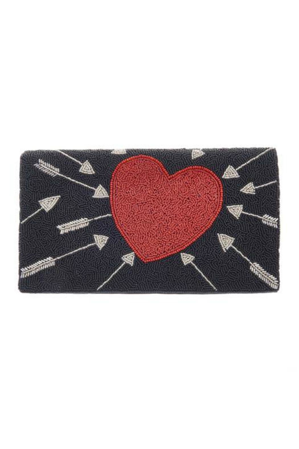 From St. Xavier  Cupid Hand Beaded Clutch - Main Image