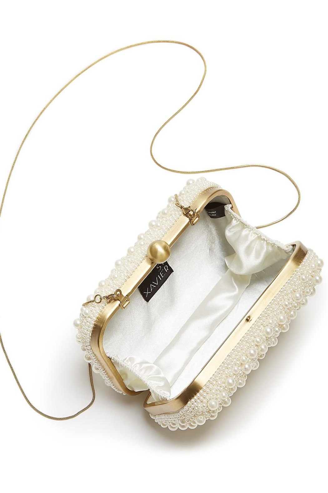 From St. Xavier  Marcela Pearl Box Clutch - Side Cropped Image