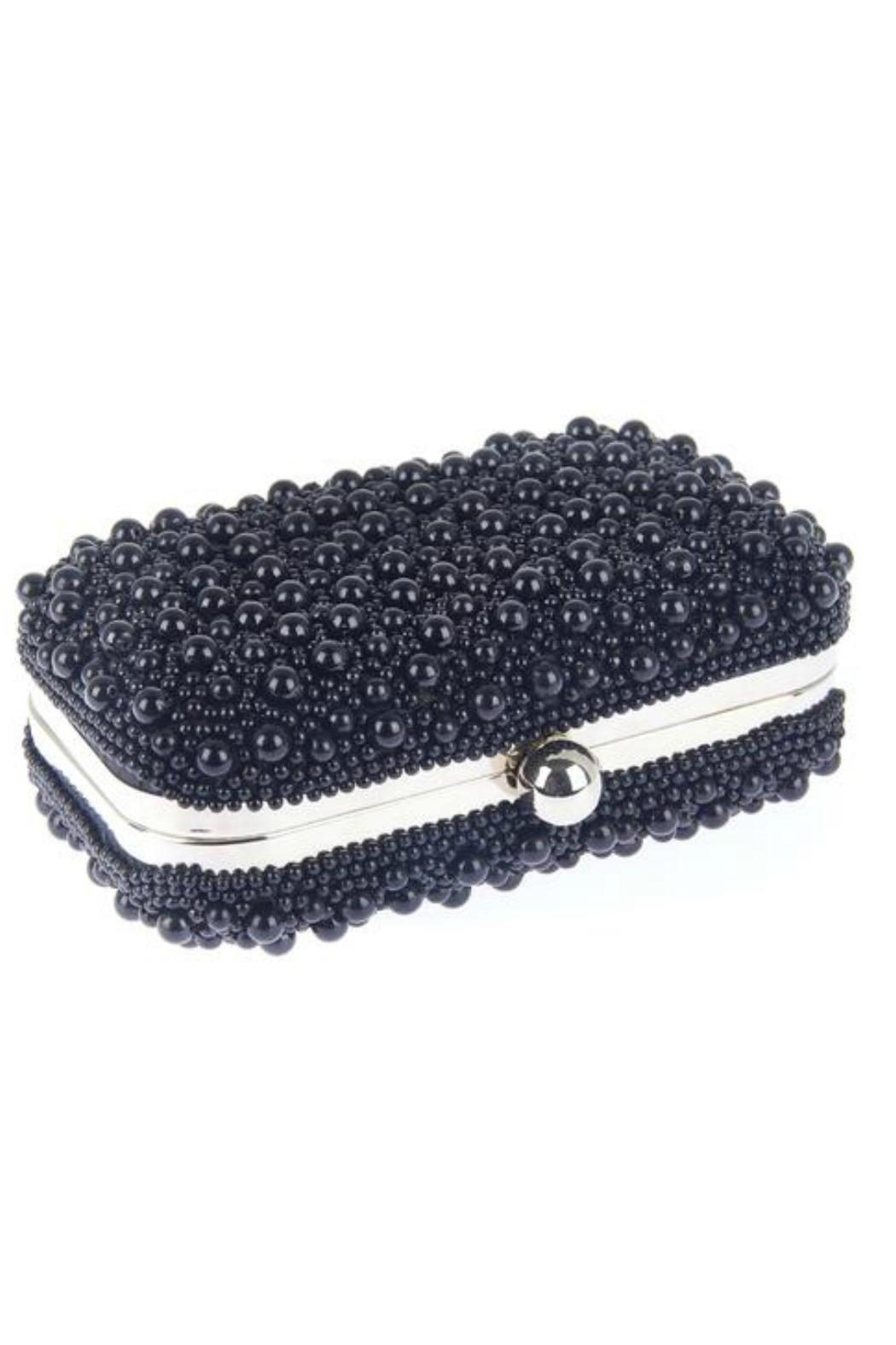 From St. Xavier  Marcela Pearl Box Clutch - Front Full Image