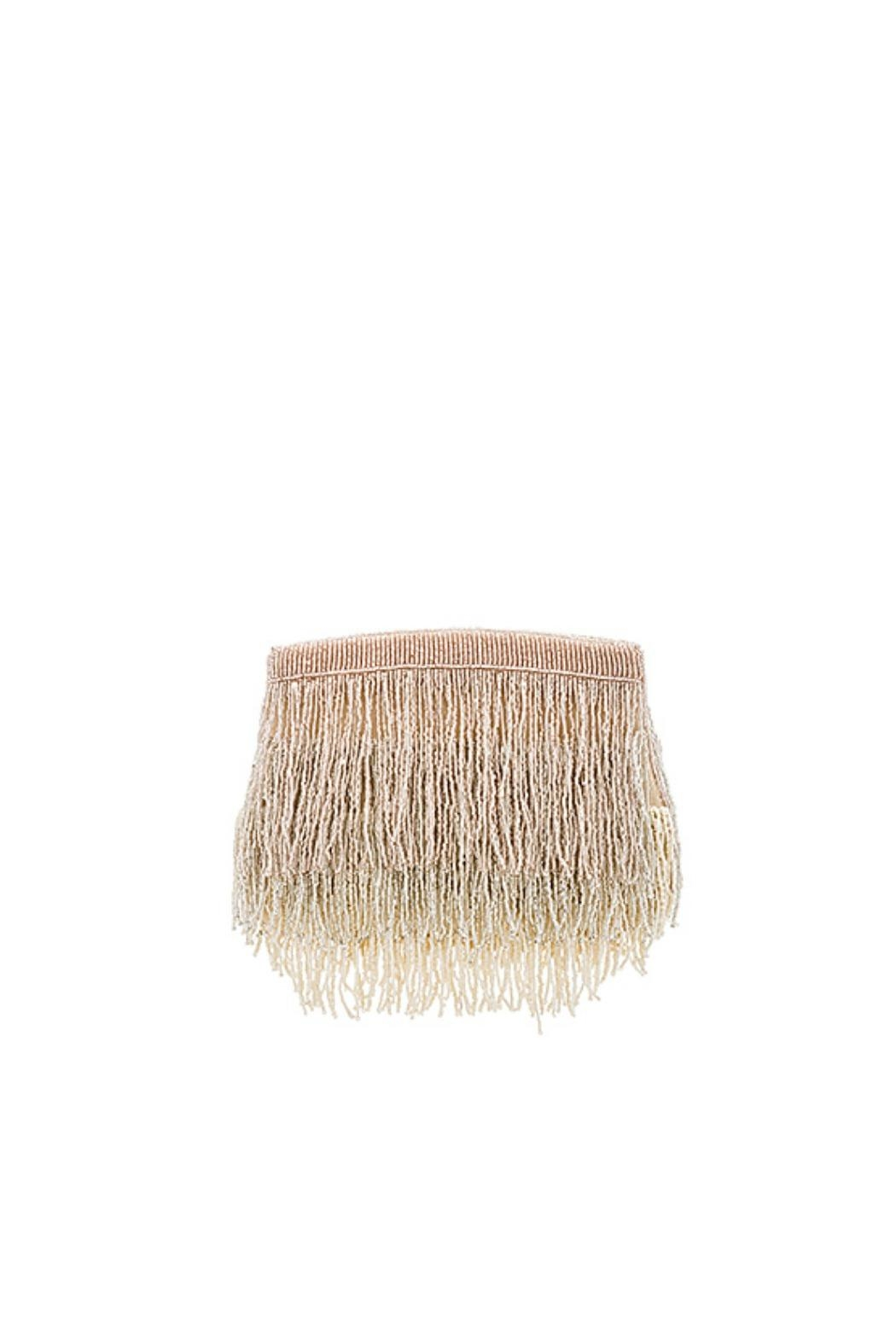 From St. Xavier  Sienna Fringe Beaded Clutch - Main Image