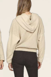 Vintage Havana  Front Button Hooded Sweater - Front full body