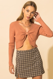 blue blush Front & Center Tied Top - Product Mini Image