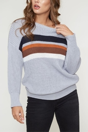 Peach Love California Front Color-Block Sweater - Product Mini Image