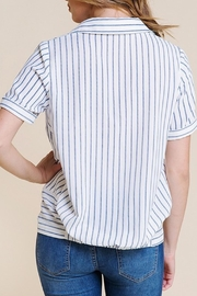 Polagram Front-Knot Button-Up Top - Side cropped