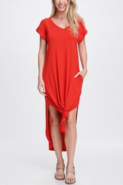 Jolie Front Knot Dress - Front cropped