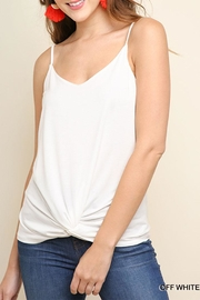 Umgee USA Front Knot Tank-Top - Product Mini Image