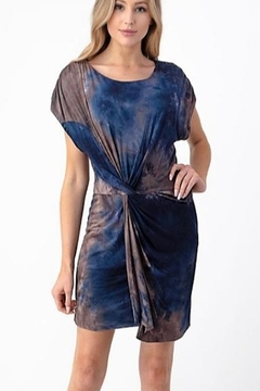 Olivia Graye Front Knot Tie Dye Dress - Product List Image