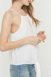Lush  FRONT KNOT WOVEN TOP - Front full body