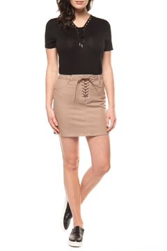 Dex Front Lace Up Mini Skirt - Product List Image