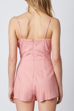 Cotton Candy  Front Lace Up Romper - Alternate List Image