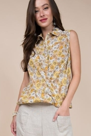 Ivy Jane Front Overlap Short Sleeve Top - Product Mini Image