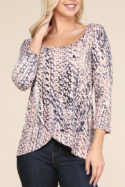Ninexis FRONT OVERLAPPED 3/4 SLEEVE TOP - Product Mini Image