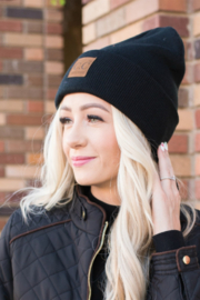 C.C. Front Patch Beanie - Front cropped