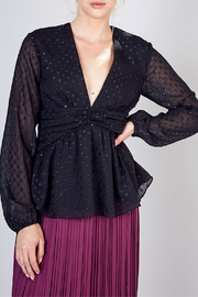 Do+Be Collection  Front Shirred Detail Top - Product Mini Image