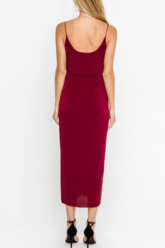 Lush Clothing  Front-Slit Cocktail Midi-Dress - Alternate List Image