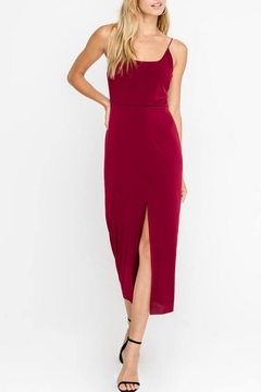 Lush Clothing  Front-Slit Cocktail Midi-Dress - Product List Image
