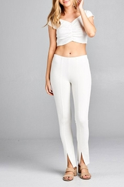 Active Basic Front Slit Fashion-Pants - Product Mini Image