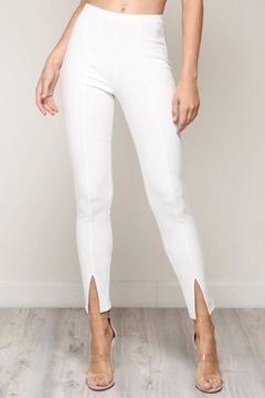 blue blush Front Slit Pants - Product List Image