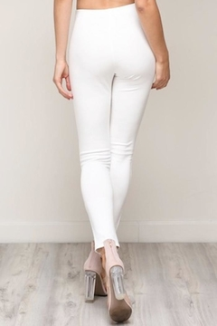 blue blush Front Slit Pants - Alternate List Image
